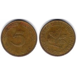 (107) Alemania. 1972(F). 5 Pfennig (BC+)