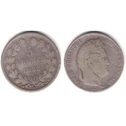 (749.1) Francia. 1832(A). 5 Francs (MBC-) (Plata)