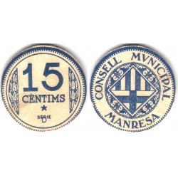 Manresa. 1937. 15 Céntimos (SC) Serie D