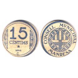 Manresa. 1937. 15 Céntimos (EBC) Serie C