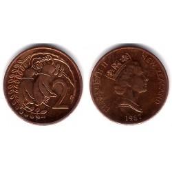 (59) Nueva Zelanda. 1987. 2 Cents (SC)