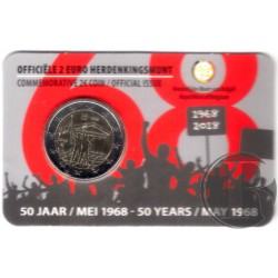 Bélgica. 2018. 2 Euro (SC) Mayo 1968