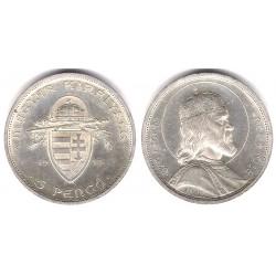 (516) Hungria. 1938. 5 Pengo (EBC+) (Plata)
