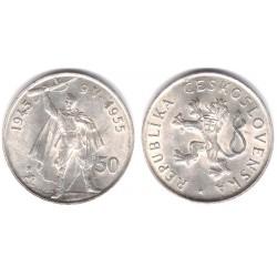 (44) Checoslovaquia. 1955. 50 Korun (EBC) (Plata)
