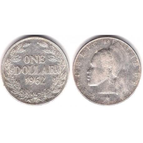 (18) Liberia. 1962. 1 Dollar (MBC+) (Plata)