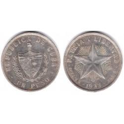 (15.2) Cuba. 1933. 1 Peso (MBC+) (Plata)