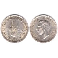 (41) Sudáfrica. 1952. 5 Shillings (EBC) (Plata)