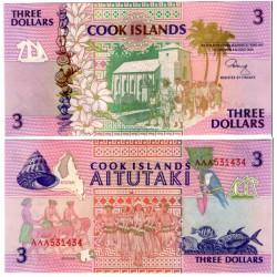 (7a) Islas Cook. 1992. 3 Dollars (SC)
