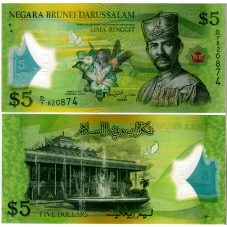 (36) Brunei. 2011. 5 Ringgit (SC)