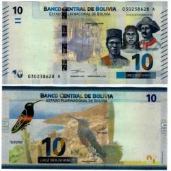 Bolivia. 2018. 10 Bolivianos (SC)