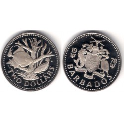 (15) Barbaos. 1978. 2 Dollars (SC)