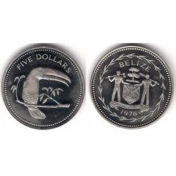 (44) Belice. 1976. 5 Dollars (SC)