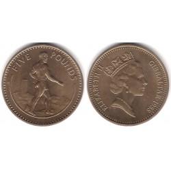 (25) Gibraltar. 1988. 5 Pounds (SC)