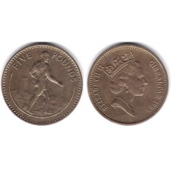 (25) Gibraltar. 1989. 5 Pounds (SC)