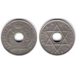 (8) África del Oeste Británica. 1918H. ½ Penny (MBC+)