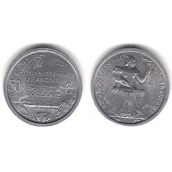 (1) Oceanía Francesa. 1949. 50 Cmes (SC)