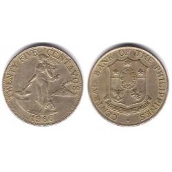 (189.1) Filipinas. 1966. 25 Centavos (MBC)