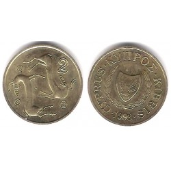 (54.3) Chipre. 1993. 2 Cents (SC)