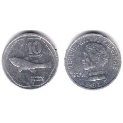 (240.2) Filipinas. 1991. 10 Sentimos (MBC)