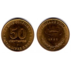 (58) Nicaragua. 1987. 50 Centavos (SC)