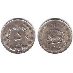 (1176) Irán. 1977. 5 Rials (EBC-)