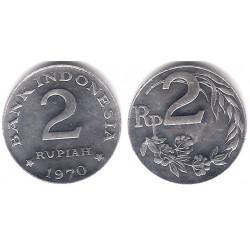 (21) Indonesia. 1970. 2 Rupiah (EBC)