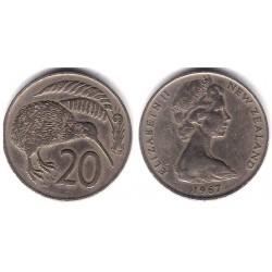 (36.1) Nueva Zelanda. 1967. 20 Cents (MBC)