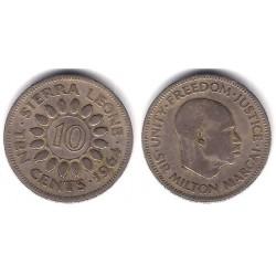 (19) Sierra Leona. 1964. 10 Cents (BC+)