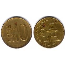 (6a) Corea del Sur. 1974. 10 Won (MBC)