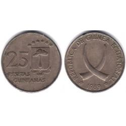 (3) Guinea Ecuatorial. 1969*(19-69). 25 Pesetas (BC)