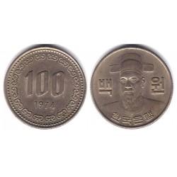 (9) Corea del Sur. 1974. 100 Won (MBC)