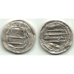 Califato Abasida. 165H. Dirham (EBC-) (Plata) Ceca de Bagdad