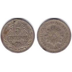 (21) Uruguay. 1909. 5 Centesimos (MBC-)