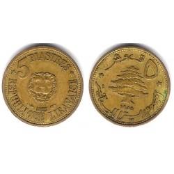 (21) Líbano. 1955. 5 Piastres (EBC+)