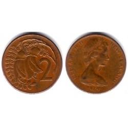 (32.1) Nueva Zelanda. 1969. 2 Cents (BC)