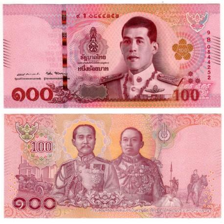 Tailandia. 2018. 100 Baht (SC)