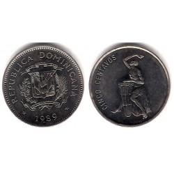(69) República Dominicana. 1989. 5 Centavos (EBC+)