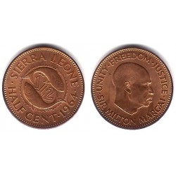 (16) Sierra Leona. 1964. ½ Cent (SC)