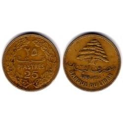 (27.1) Líbano. 1968. 25 Piastres (MBC)