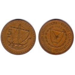(39) Chipre. 1963. 5 Mils (MBC)