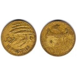 (22) Líbano. 1955. 10 Piastres (BC)