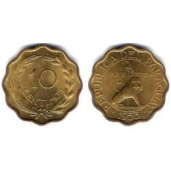 (25) Paraguay. 1953. 10 Centimos (SC)