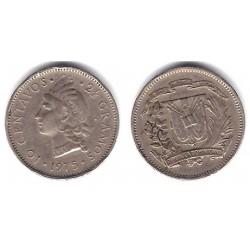 (19a) República Dominicana. 1975. 10 Centavos (BC+)