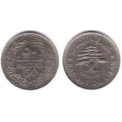 (28.1) Líbano. 1970. 50 Piastres (EBC+)