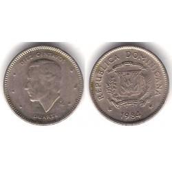 (60) República Dominicana. 1984. 10 Centavos (BC+)