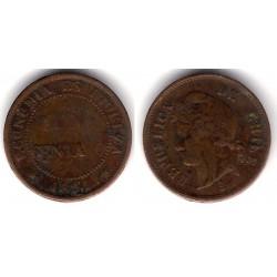 (146a) Chile. 1891. 1 Centavo (MBC)