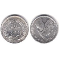 (181) Chile. 1958. 10 Pesos (MBC+)