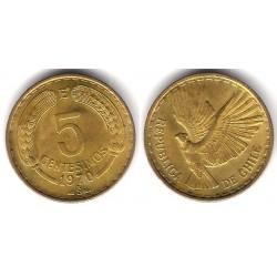 (190) Chile. 1970. 5 Centesimos (EBC+)