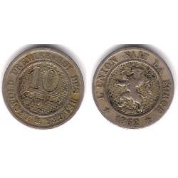 (22) Bélgica. 1861. 10 Ctmes (MBC)