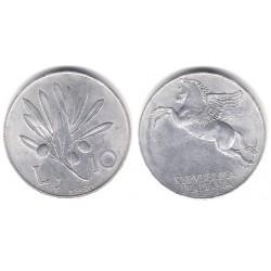 (90) Italia. 1950. 10 Lira (EBC)